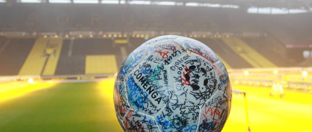 Der COMENGA-FairPlay-Ball zu Gast im Dortmunder Signal-Iduna Park, Foto: Markus Wiefel