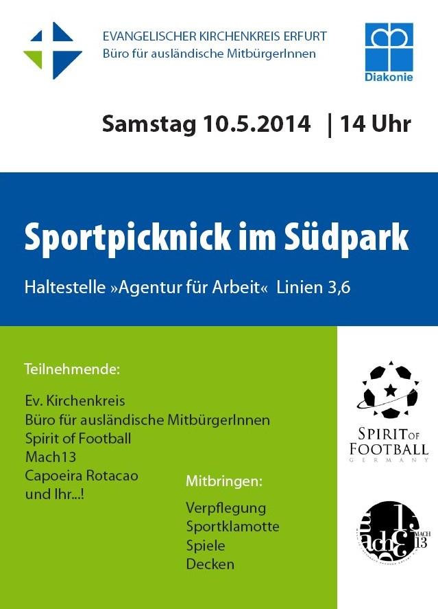 Plakat Sportpicknick im Südpark