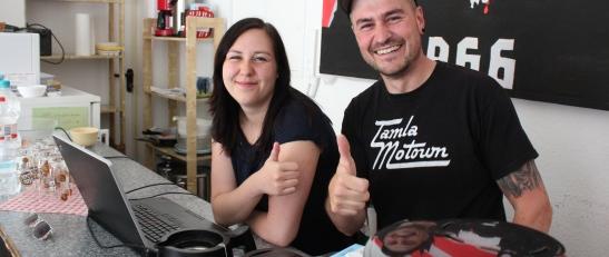 Lisa und Thorsten vom FANPROJEKT Erfurt