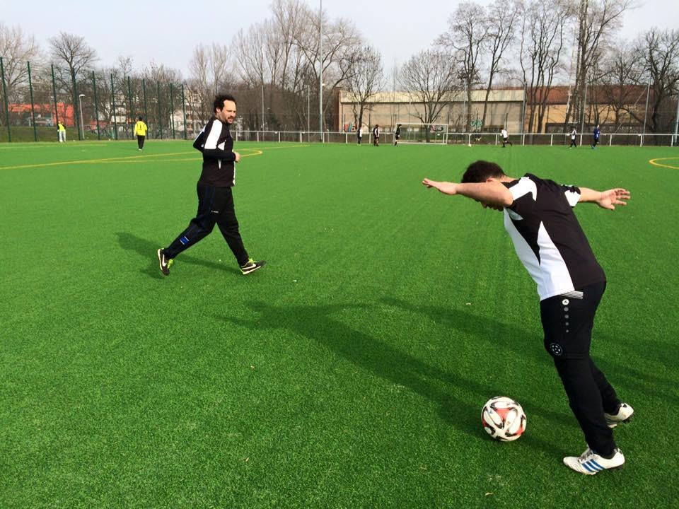 Torschussübung mit Tarek.