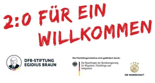 2 zu 0 für ein Willkommen, Egidius Braun Stiftung