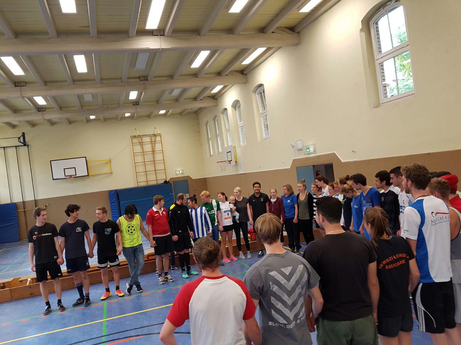 "Kick-off Wochenende für das Wintersemester 16/17 ""Spirit of Fair Play"". Foto: Usama Gafar"