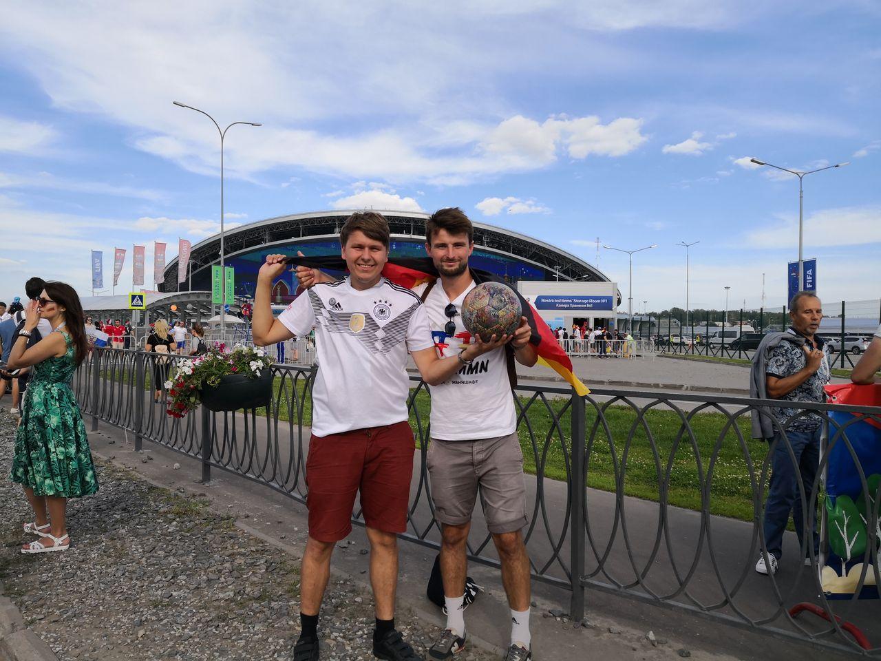 B & B vor dem Spiel Deutschland - Südkorea