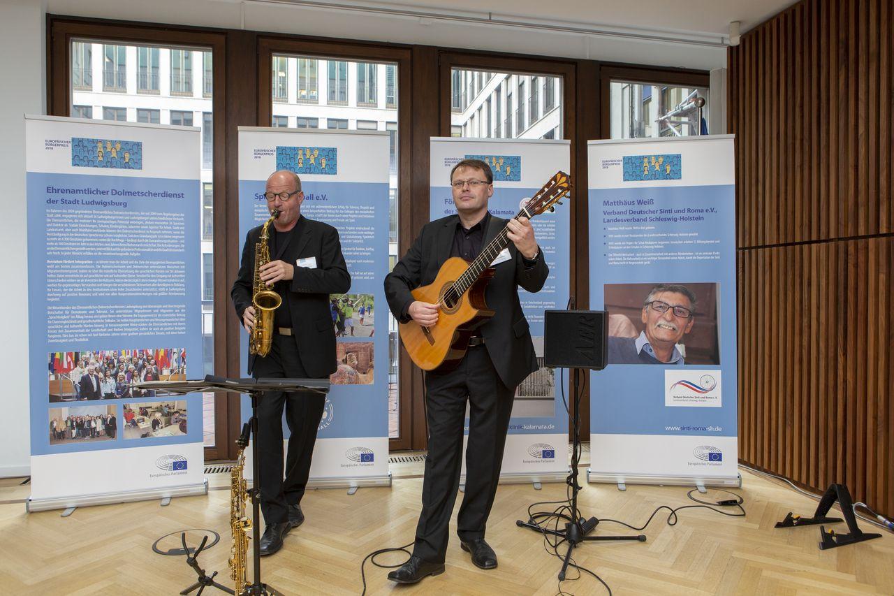 Die Veranstaltung wurde musikalisch begleitet. Foto: Christian Thiel