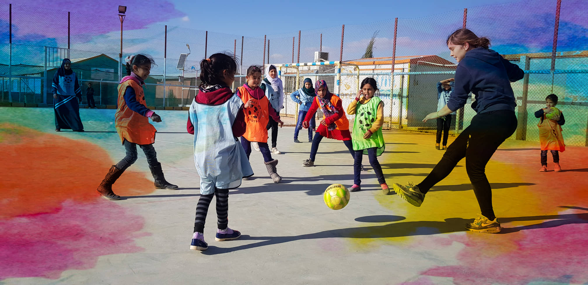 Fußballspiel mit unseren Frauencoaches