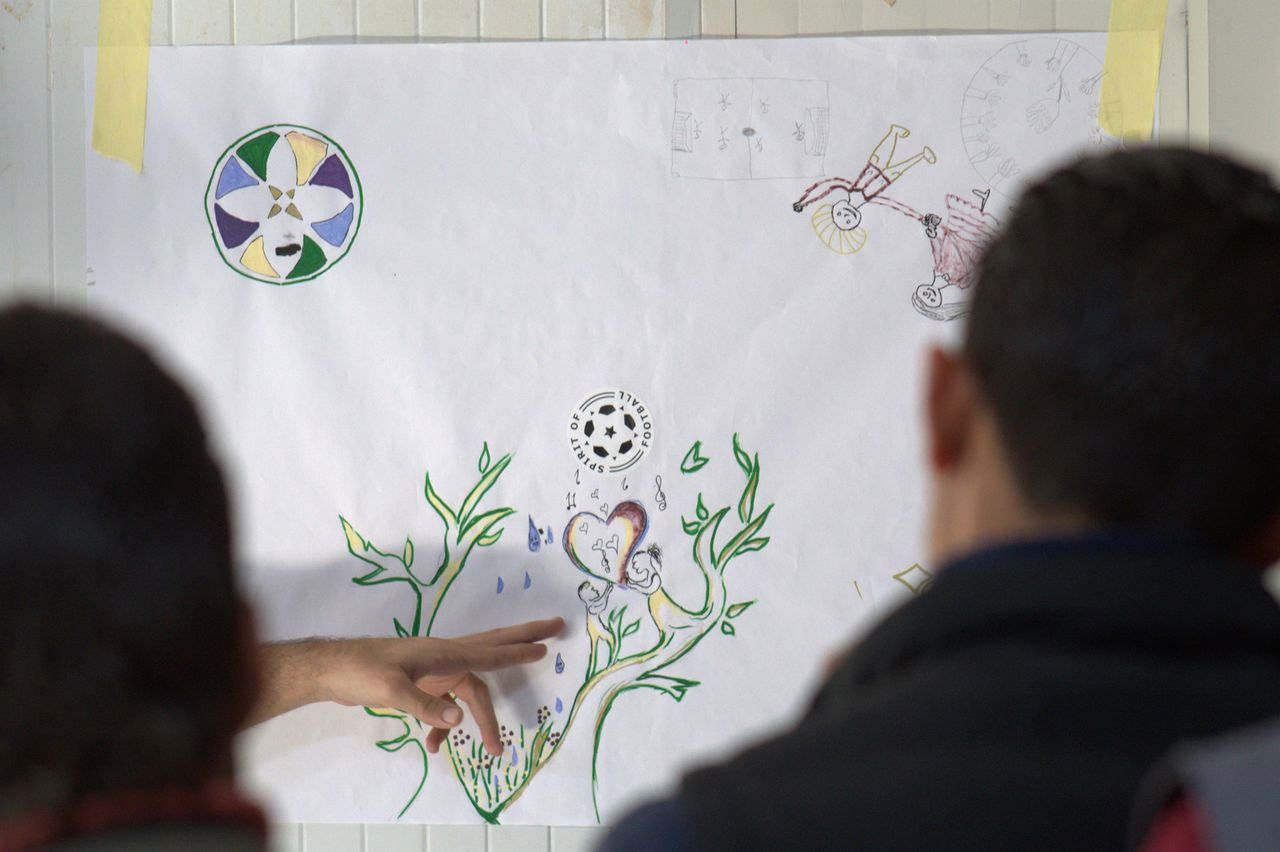 One of the ideas of the mural