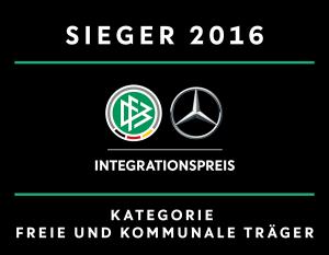 Integrationspreis 2016 DFB Sieger in der Kategorie Freie und Kommunale Träger
