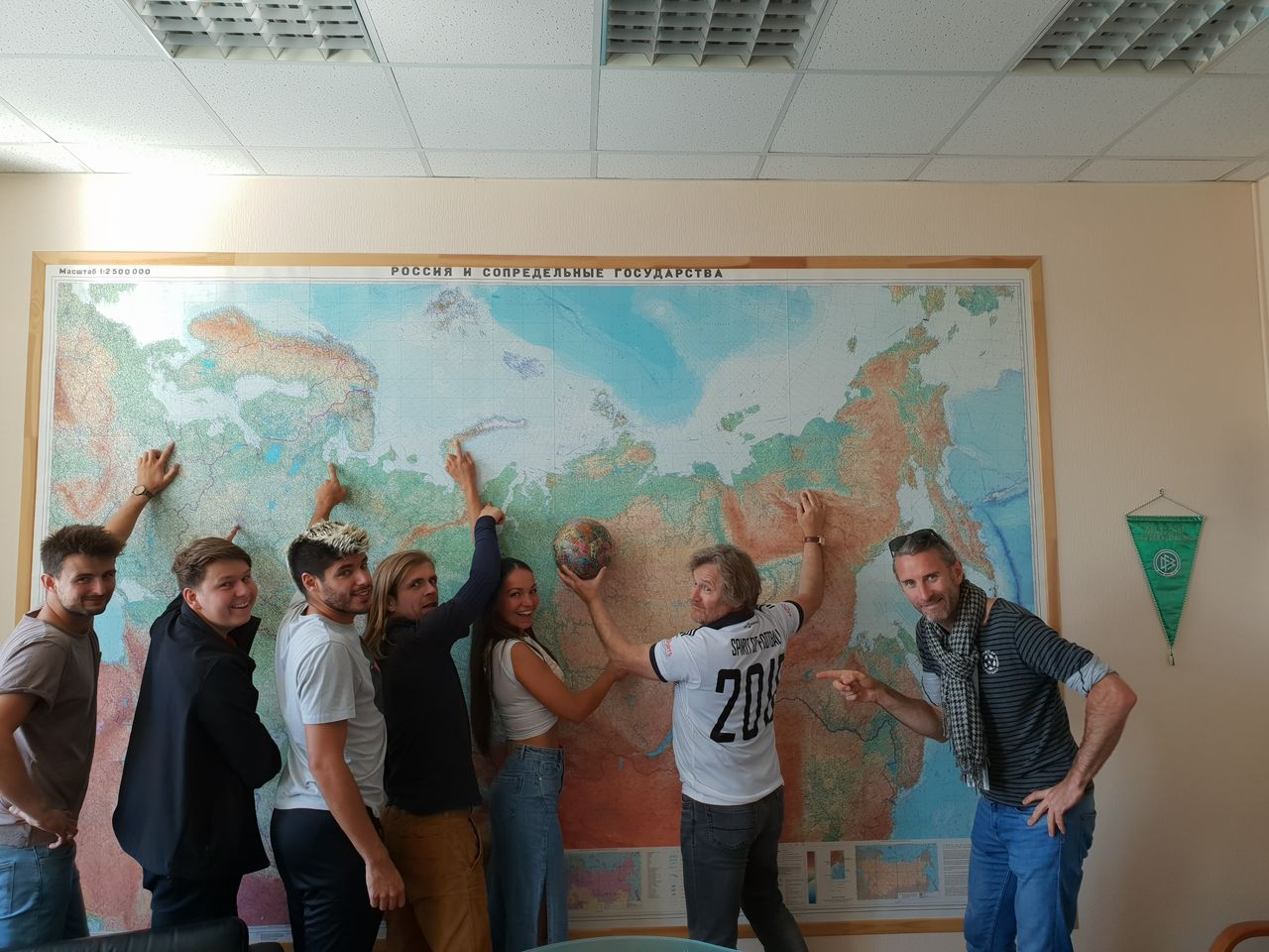 Im Büro der Friedrich Ebert Stiftung mit Mirko Hempel