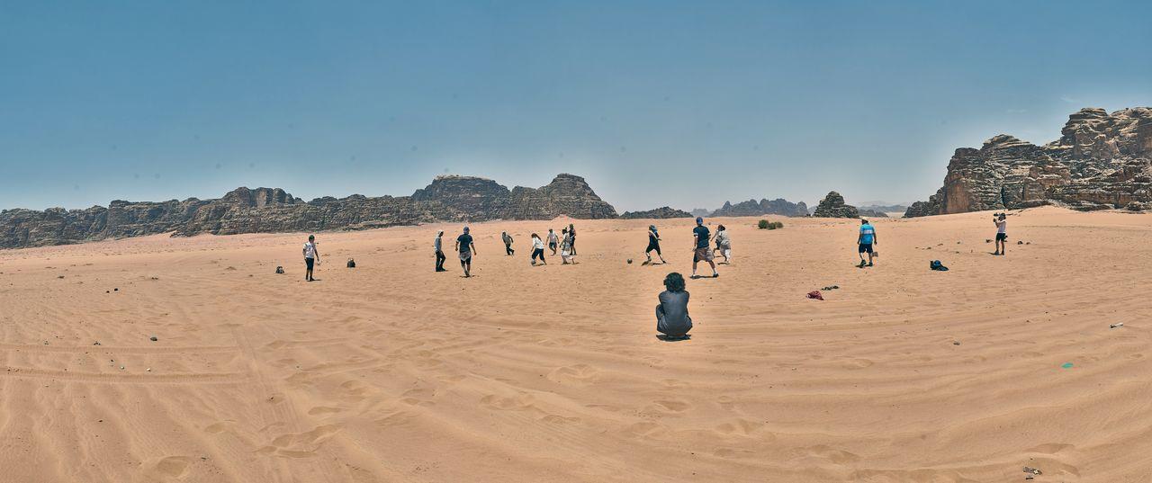 Fair Play Fußball in der Wüste Wadi Rum