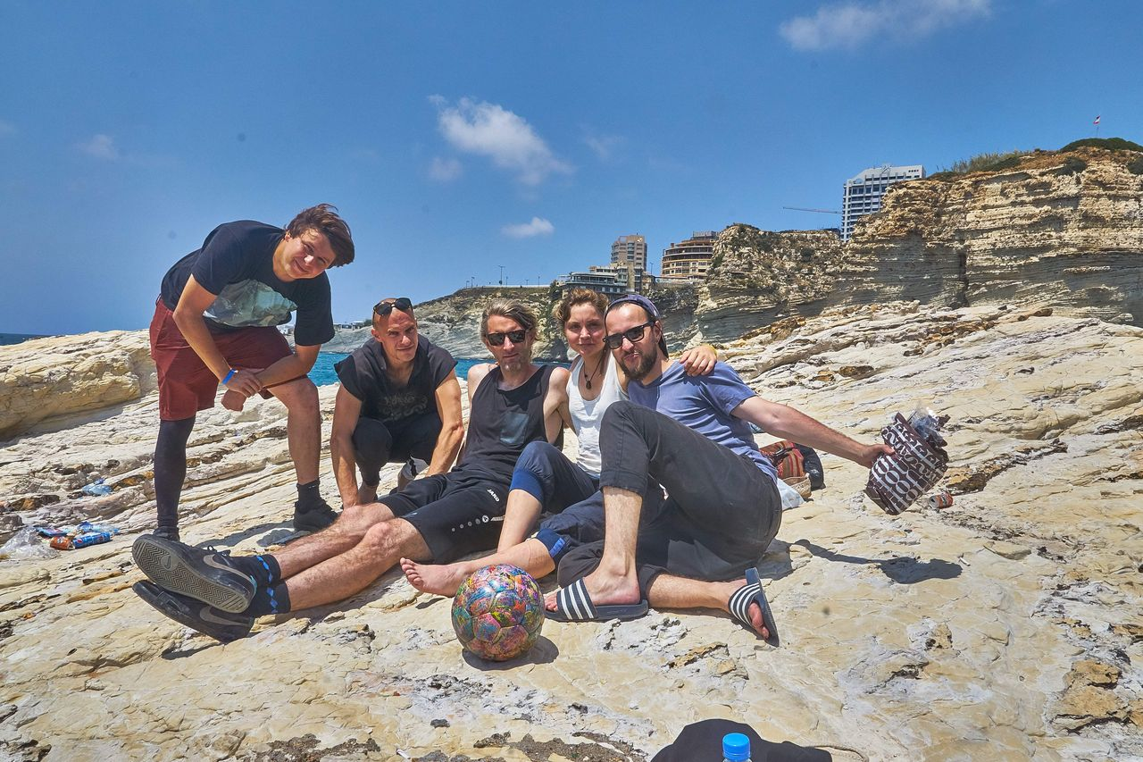 Das Libanon Team: Benni, Sebastian, Andrew, Nicola & Robert