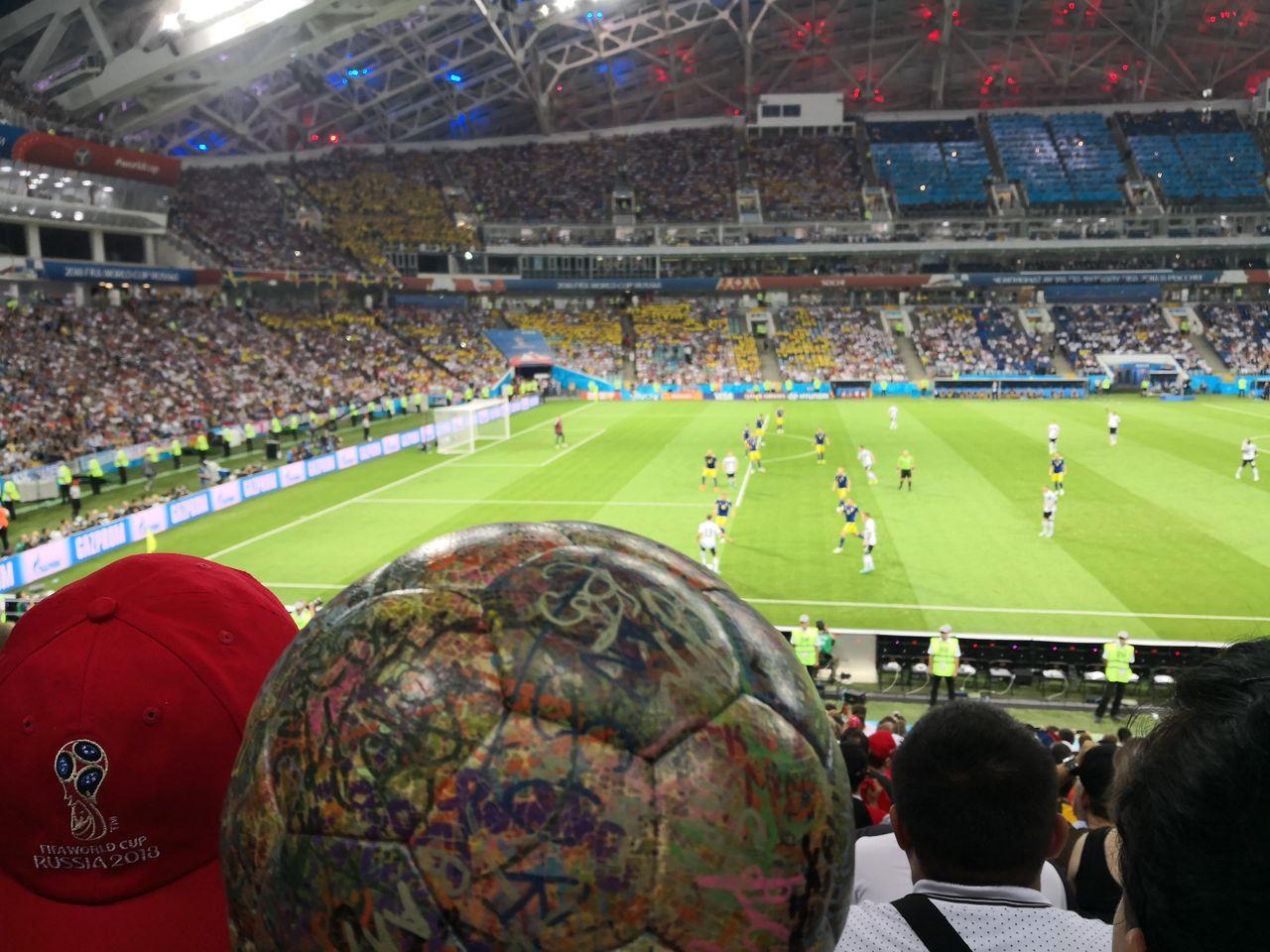 THE BALL war mit im Stadion.